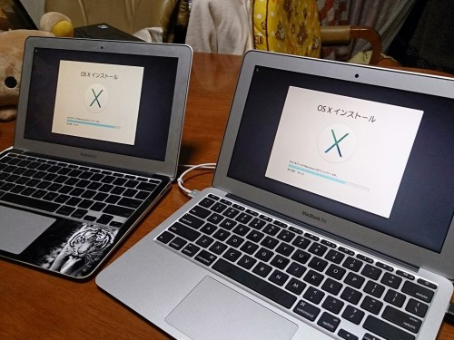 2台のMacBook Air